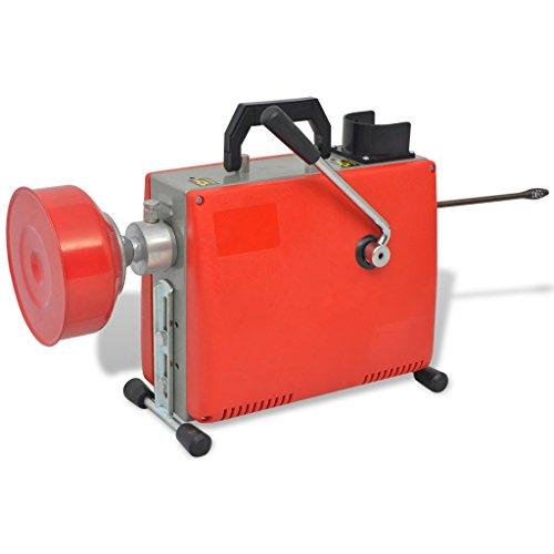 Festnight Rohrreinigungsmaschine 250W Rohr-Reiniger Reinigung Werkzeug 15m x 16mm / 4,5m x 9,5mm (Typ A)