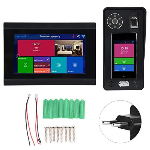 Videoportero, Monitor de teléfono de puerta electrónico Seguridad para el hogar Timbre de video digital WiFi de alta definición para interiores para exteriores(Transl)