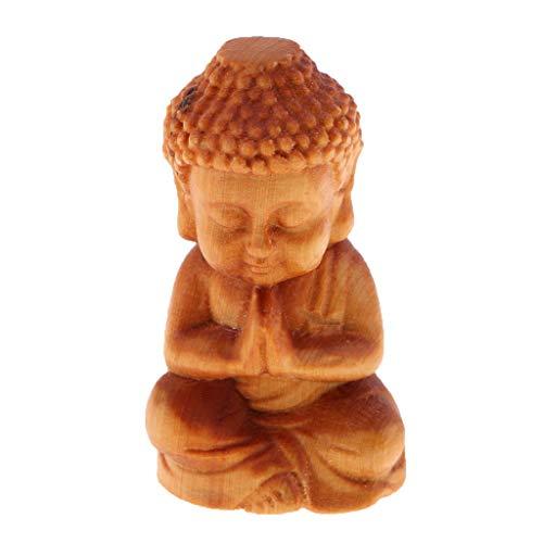 Homyl Handgeschnitzter Glücklicher Tiere Buddha Figur Skulptur Dekofigur Ornament - Buddha A