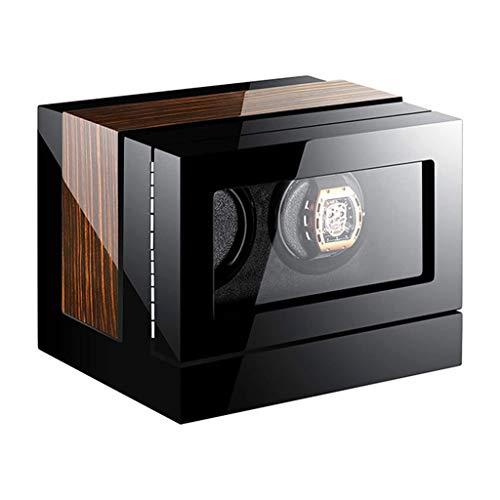 CWYP-MS Reloj automático Winder, Watch Winder Box LCD Pantalla táctil Azul LED LED 15 Modo de rotación Configuración de Piano Finish para el 24/6/6/9/12/24 Reloj (Size : 2+0)
