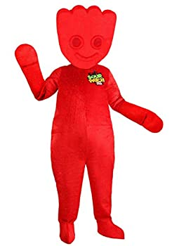 Adult Red Sour Patch Costume Fun Candy Costume for Men Large