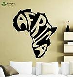 Ajcwhml Stickers muraux de Haute qualité Afrique Carte Stickers muraux Vinyle Amovible pour Salon décoration de la Maison intérieur Art Mural Moderne - 54X61 CM