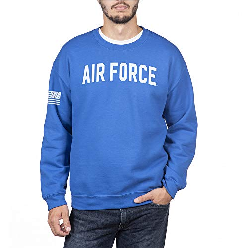 Elite Fan Shop US Air Force Armed Forces Military Crewneck Sweatshirt - X-Large - US Air Force Royal Blue