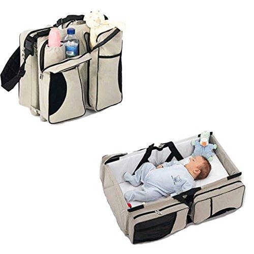 JLRQY 3 in 1 Wickeltasche Travel Stubenwagen Wickelstation, Tragbare Stubenwagen Wasserdichte Baby Nap Matte Für 0-8 Monate Alt Neugeborenen,A