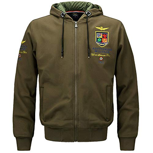 ZXHDP Bomberjacke Männer Neue Männer Mit Kapuze Army Military Aeronautica Military Thick Vintage Taktische Jacke Outwear Mäntel M-4XL