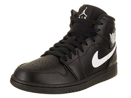 Nike Air Jordan 1 Mid, Scarpe da Basket Uomo, Multicolore (Black/White-Black 049), 42 EU