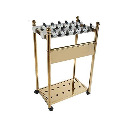 WYJW 12/18 hangslot, afneembare parapluhouder van metaal, met slot, goudkleurig, robuust en duurzaam (kleur: 18 kopen)