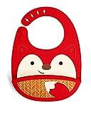 Skip Hop Zoo Fold and Go - Babero de silicona con diseño de