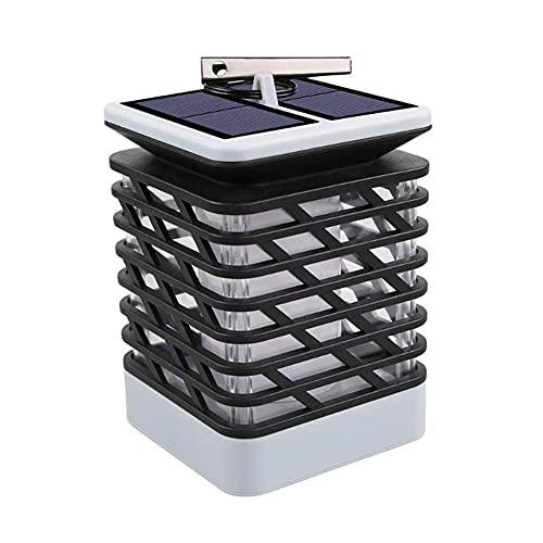 Lámpara de Llama de energía Solar Panel Solar Impermeable Linterna LED Luces Colgantes para Camino de jardín Decorar el hogar Luces de Poste de Linterna sin Llama sin Humo al Aire Libre