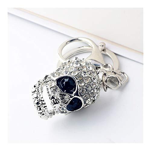 XYBW Strass Skeleton Key Chain Fashion Frauen-Geldbeutel Schlüsselanhänger Schädel Schlüsselanhänger Klassiker Schlüssel Zubehör Anhänger Schmuck (Color : Crystal)
