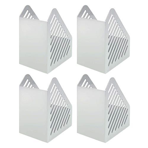 Helit H6361082-4 - Portariviste in formato A5', 4 pezzi, colore: Grigio chiaro
