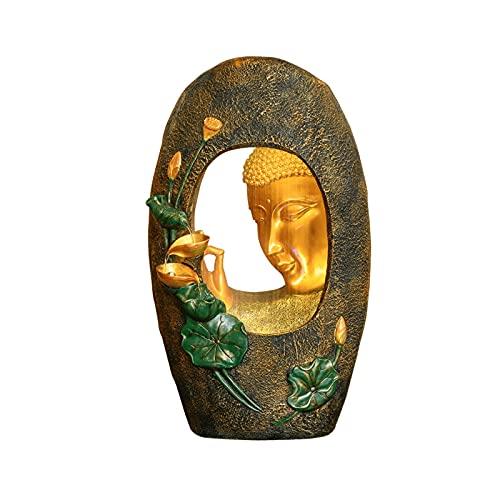 Fuente De Escritorio Fuente de la mesa de la mesa de Buda Meditación Fengshui relajante decoración interior ZEN 3D Buda estatua - para la decoración del dormitorio de la oficina en el hogar Fu