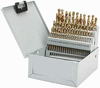60pc Drill Bit Set M2 HSS High Speed Steel Bits Numbered #1-60 Metal Case
