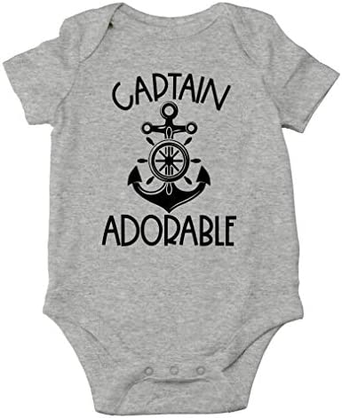 AW Fashions Captain Adorable Daddy s Little Sailor My Ship Don t Stink Cute One Piece Infant product image