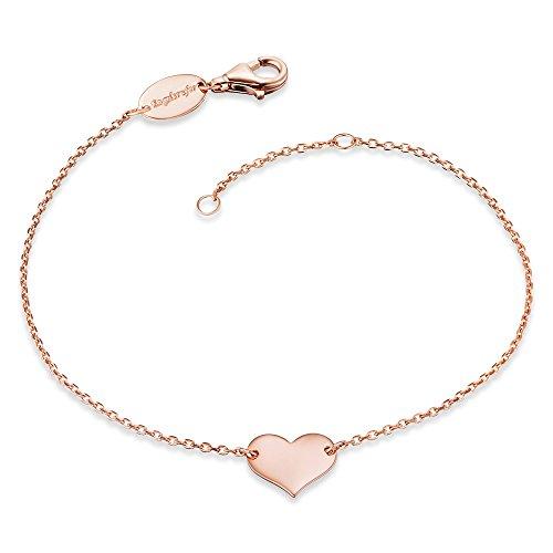 Engelsrufer Damen Armband Little Heart 925er-Sterlingsilber rosévergoldet Länge 16 cm + 2 cm