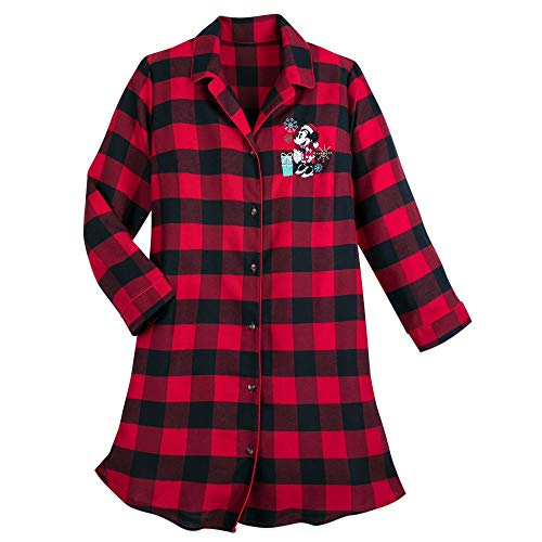 Disney Minnie Mouse Holiday Plaid Nightshirt for Women – Size Ladies S Multi