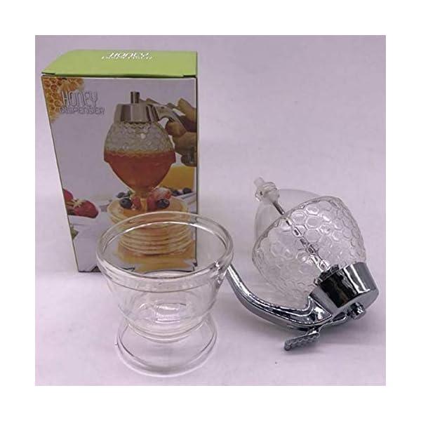 Bote dispensador de Miel de 200 ml, de acrílico y ABS, distribuye uniformemente