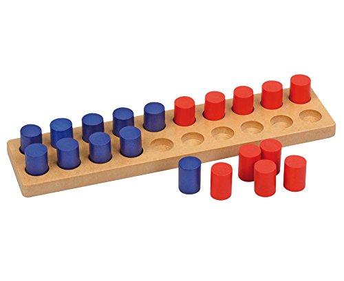Betzold 86718 - Zwanziger Steckbrett - Mathematik Rechnen Lernen Zahlen Kinder Mathe-Übungen