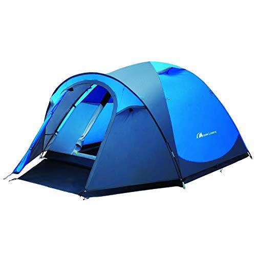 Moon Lence テント 3-4人用 前室付き グランドシート付き アウトドア用 二重層 設営簡単 コンパクト