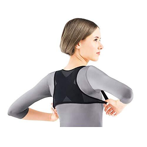 Outtw Corrector Postura Corrector De Postura De Espalda Invisible para Mujer, Chaleco Elástico Alto, Tirantes De Espalda, órtesis De Espalda Profesional para Mejorar La Postura(Size:S,Color:Ne