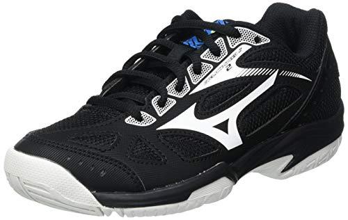 Mizuno Unisex Kinder Cyclone Speed 2 Volleyball-Schuh, Black/White/Divablue, 39 1/3 EU