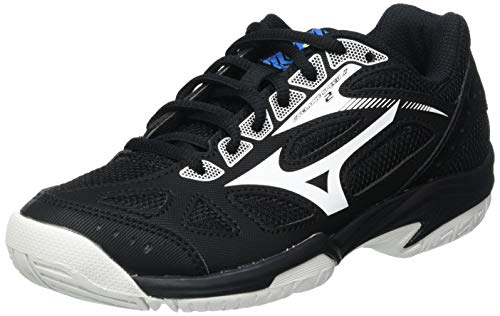 Mizuno Cyclone Speed 2 Junior, Chaussure de Volleyball Mixte Enfant, Black White Diva Blue, 34 EU