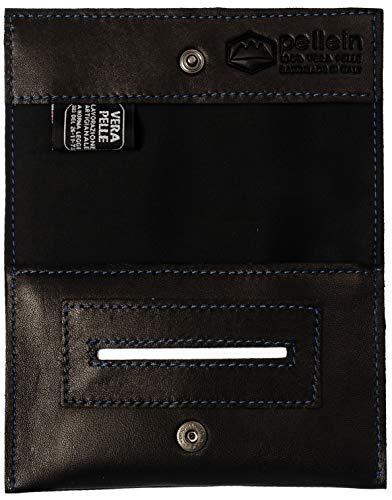 Pellein - Portatabacco in vera pelle Unforgivable - Astuccio porta tabacco, porta filtri, porta cartine e porta accendino. Handmade in Italy