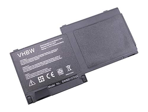 vhbw Batterie Compatible avec HP EliteBook 720 G2-L3Z61UT, 725 G2(L6M61UP), 725 G2(P7P01UP) Laptop (4140mAh, 11,1V, Li-ION, Noir)
