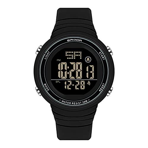 LJSF Relojes de Simulación Digital, Moda Simple Student Reloj Electrónico a Prueba de Agua LED Reloj de Pulsera de Pantalla Grandecon Alarma Pantalla Luminosa, para Damas,Set4
