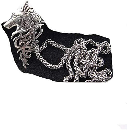 GLLFC Collar para Mujer Collar Hombre Collar de Lobo rúnico como Regalo Joyas y Accesorios Collares Pendientes Collar Colgante Niñas Niños Regalo