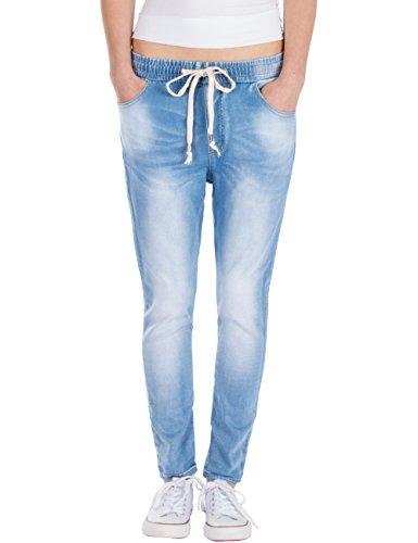 jeans donna jogger Fraternel Jeans Donna Jogger Relaxed Azzuro Chiaro Taglia: IT 38 - XS