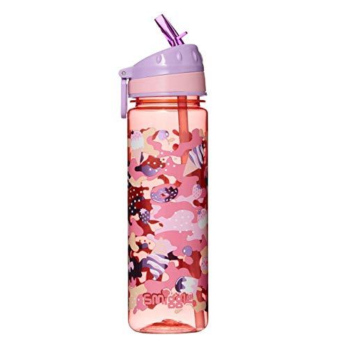 Smiggle Seek, botella de agua rellenable para niñas y niños con boquilla a presión y 650ml de capacidad | Con dibujos de helados