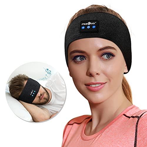 ink-topoint Auriculares inalámbricos con Bluetooth 5.2, auriculares para dormir, manos libres, con altavoces impermeables IPX6, para entrenamiento, correr, yoga, insomnio, viajes, (negro)
