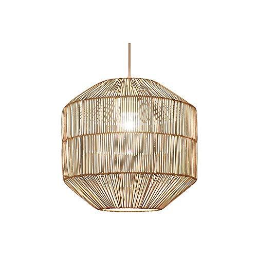 Luz colgante moderna Araña E27 soltera clásica con altura ajustable, lámpara de araña hecha a mano de ratán natural, 30 cm Apto for sala de estar, dormitorio, comedor, sala de té, sala de estudio Mueb