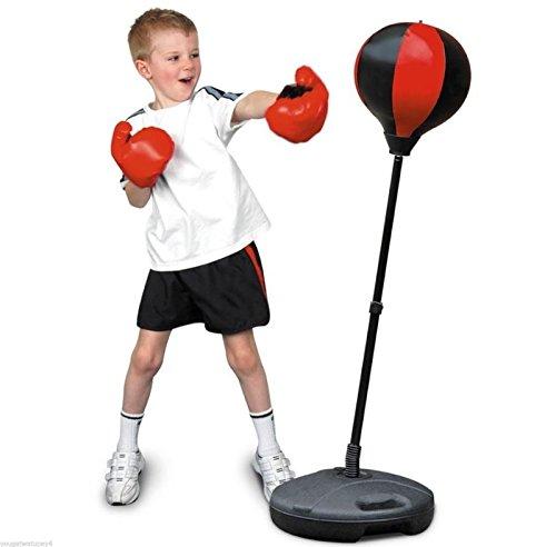 Generic Punch BA Kit Kinder Freistehender Boxsack Mitts Handschuhe-Junior Boxing Set Handschuhe GL Kinder Punsch oder Boxing Bag Ball oxing SE