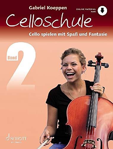 Celloschule: Cello spielen mit Spaß und Fantasie. Band 2. Violoncello. Lehrbuch mit Online-Audiodatei.