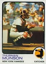 1973 Topps Regular (Baseball) Card# 142 Thurman Munson of the New York Yankees Ex Condition