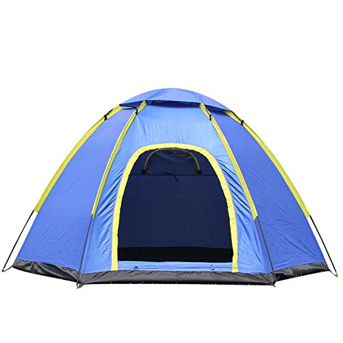 WG Sechseckiges Fiberglaspfosten-Campingzelt des UV-Schutzes im Freien, regendichte und regendichte Markise mit 3-4 Personen 210 * 240 * 130cm