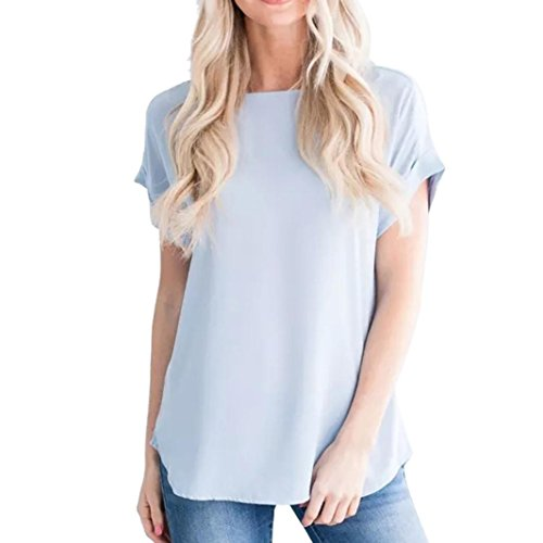 ESAILQ Damen Sommer Damen Spitze Patchwork Armelloses Crop Top Weste Tank Basic Shirt Oberteile (XL,Blau)