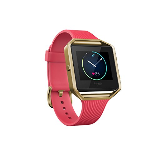 Fitbit Blaze Special Edition, Gold, Pink, Large (6.7 - 8.1 inch) (US Version)