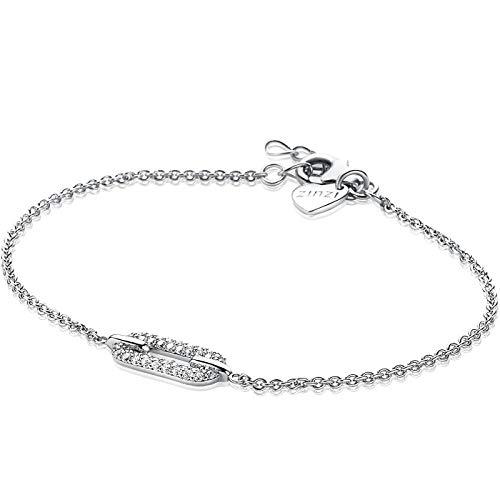 Zinzi Jewels 925 Sterling Zilveren Armband ZIA1894 (Lengte: 17.00-19.50 cm)