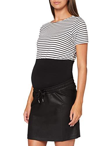SUPERMOM Skirt OTB PU Black Gonna, Nero-P090, XL Donna