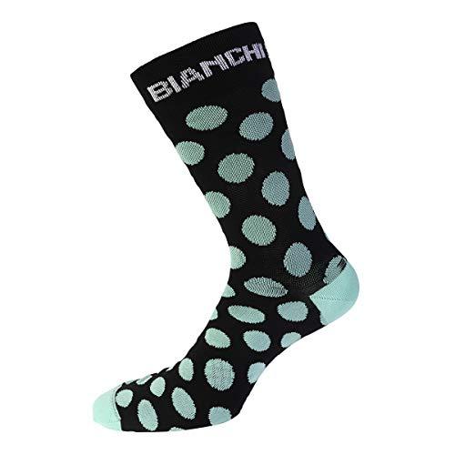 Bianchi Milano Calcetines t/érmicos de invierno fabricados en Italia talla S//M modelo Diaterna 36-41 color 4300 celeste//negro con banda fucsia