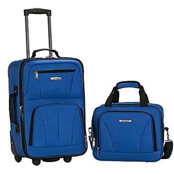 Rockland Fashion Softside Upright Luggage Set Blue 2-Piece  14/19