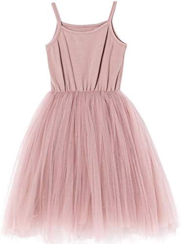 Niyage Baby Girls Spaghetti Strap Dress Princess Toddler Sleeveless Soft Tulle Tutu Sundress product image