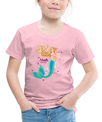 Schleich Bayala Meerjungfrau Michelle Kinder Premium T-Shirt, 110-116, Hellrosa