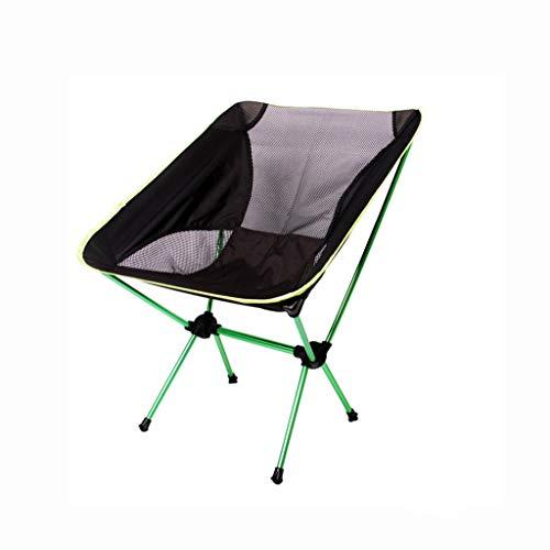 Xwzz Campingstoel Ultra Light Tuinstoel Klap Vissen stoel zware capaciteit 100 kg draagbare stoel in de open lucht met Carry Camping BBQ Beach Backpacking etc.