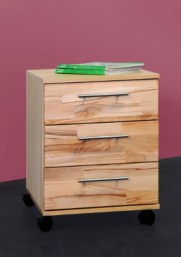 Möbeldesign Team 2000 Rollcontainer Bürocontainer Schubcontainer kernbuche Teil-massiv, geölt 2042-5