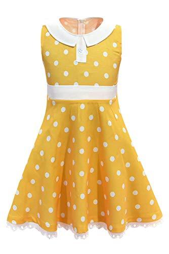 dingnengshop Pelicula Cosplay Gabby Costume Falda Amarilla de Lunares de Jessie Disfraz de Cosplay de Halloween para Ninas,140