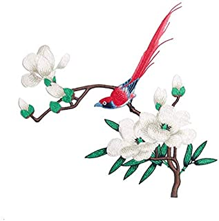 Embroidery Water Soluble Plum Flower Decal Bird Magpie Embroidery National Style...